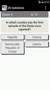 Ebola Virus Disease Quiz- screenshot thumbnail