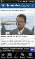 Screenshot of Israel News - JerusalemOnline
