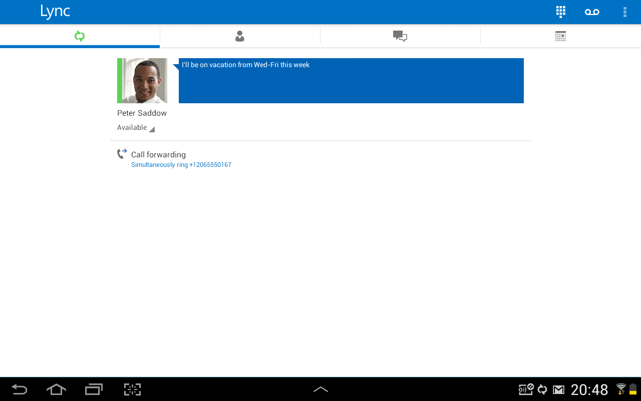 Lync 2013 - screenshot