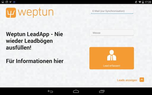 Weptun Lead App