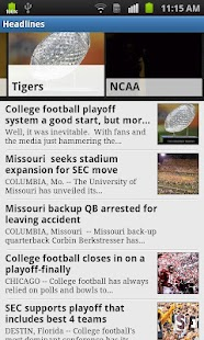 Missouri Football App - screenshot thumbnail