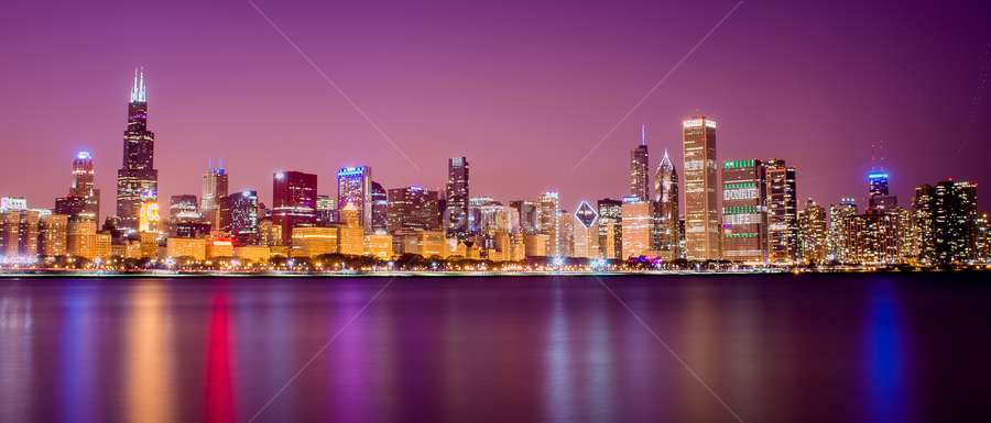 Awesome CHICAGO !!! by Rohit Tripathi - City,  Street & Park  Skylines ( sears towers, skyline, willis tower, hdr, adler planaterium, chicago, city )