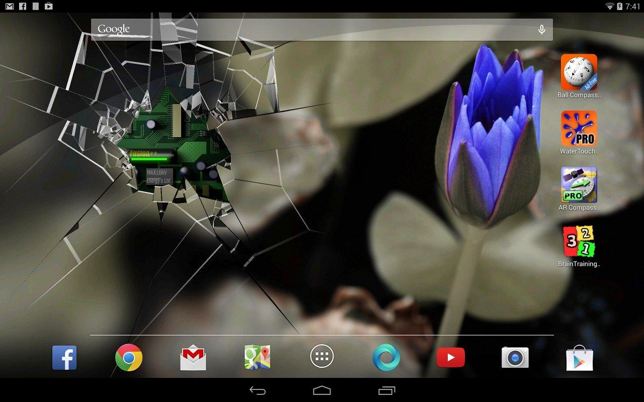 Android 3d Effect Wallpaper Hd: Cracked Screen Gyro 3D PRO Parallax Wallpaper HD