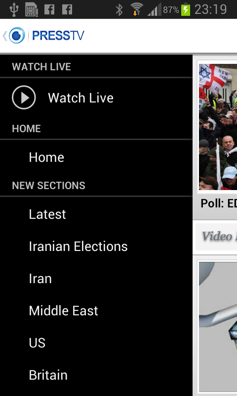 Press TV Mobile - screenshot