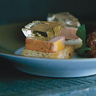 Foie Gras Toasts with Sauternes Geleé.