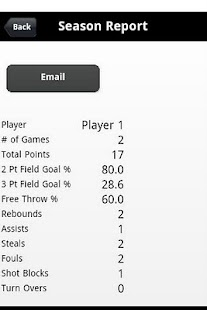 Youth Basketball Stats Tracker - screenshot thumbnail