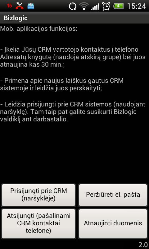 Bizlogic CRM- screenshot