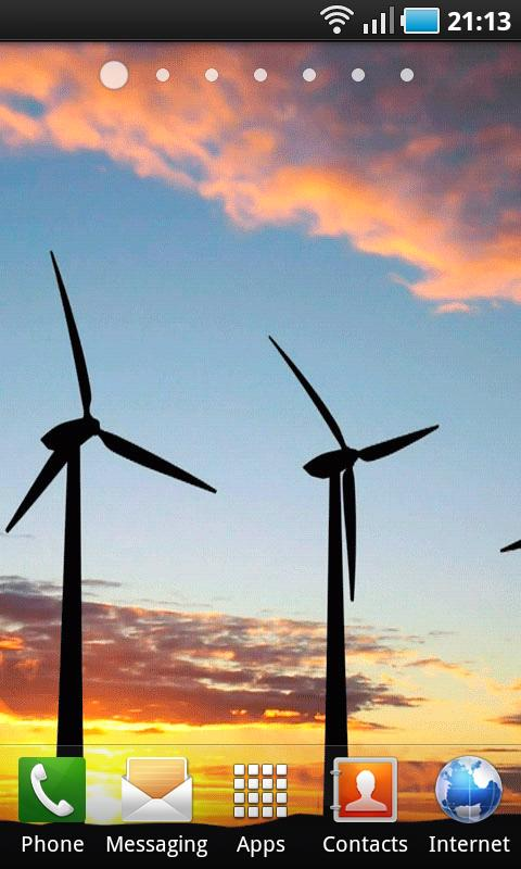 Windmills at Sunset LWP - screenshot