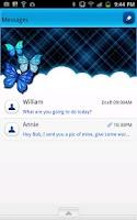 Screenshot of GO SMS - Midnight Blue Sky