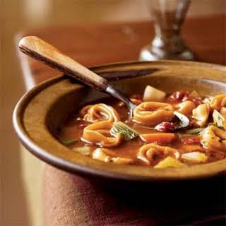 Sun-Dried Tomato Tortellini Soup.