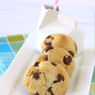 Brown Butter Cream Cheese Chocolate Chip Cookies.