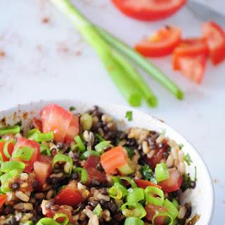 Beluga Black Lentil Salad with Rice