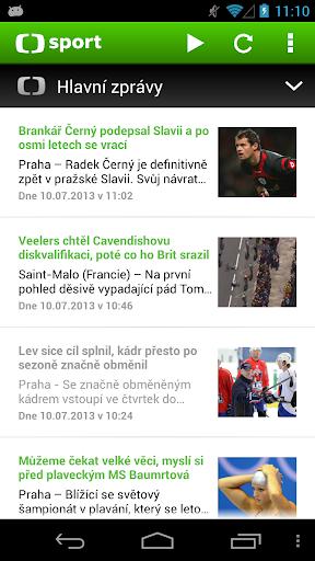 ČT sport 1.7.8 screenshots 1