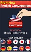 Screenshot of RightNow English Conversation