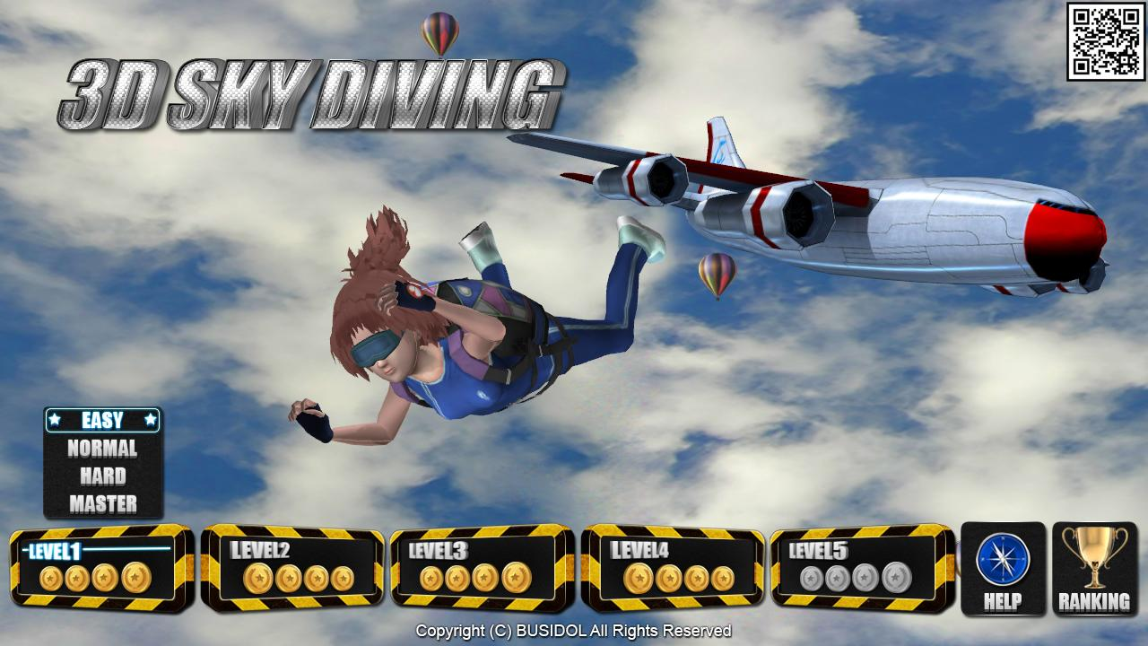 3D SkyDiving for Smart TV - screenshot