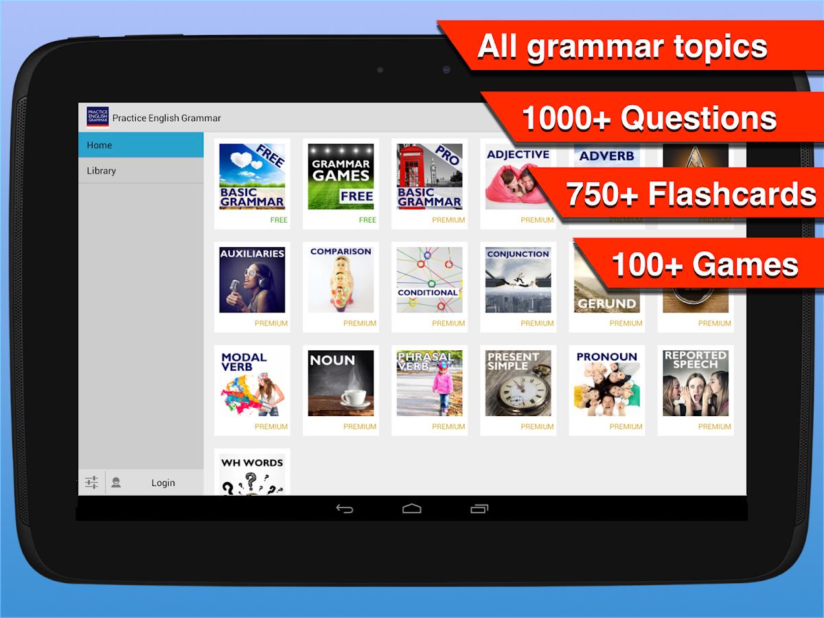 Practice English Grammar - screenshot