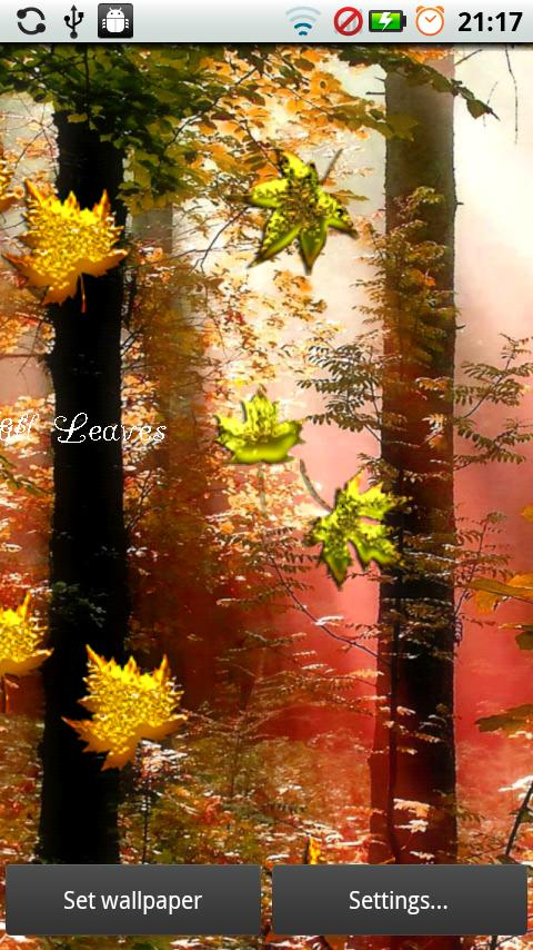 Fall Golden Diamond Leaves - screenshot