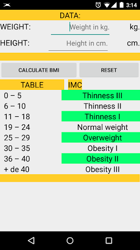 CALCULATE BMI