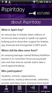 Go Purple for #SpiritDay - screenshot thumbnail