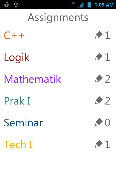 yasp! Class Schedule- screenshot