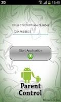 Screenshot of Parent Control