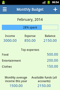 Monthly Budget - screenshot thumbnail