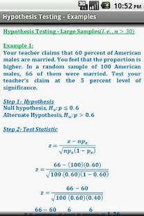 Statistics Quick ReferenceFree - screenshot thumbnail