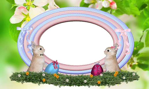 clip art illustration featuring a large Easter egg with blank middle ...