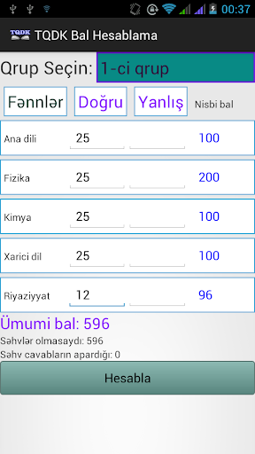 TQDK Bal Hesablama