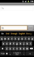 Screenshot of English completion dictionary