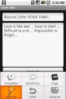 Screenshot of txeet: SMS Templates