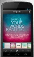 Screenshot of InstaQuote: add text to photos