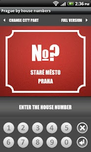 Prague by house numbers - screenshot thumbnail