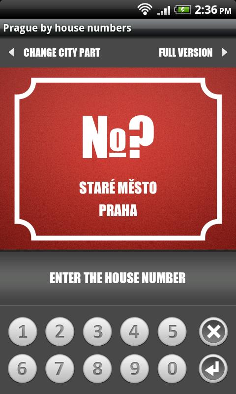 Prague by house numbers - screenshot