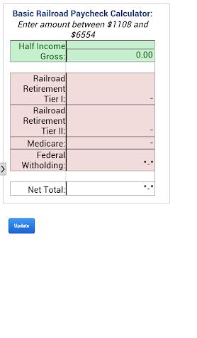 Railroader Paycheck Calculator Screenshot