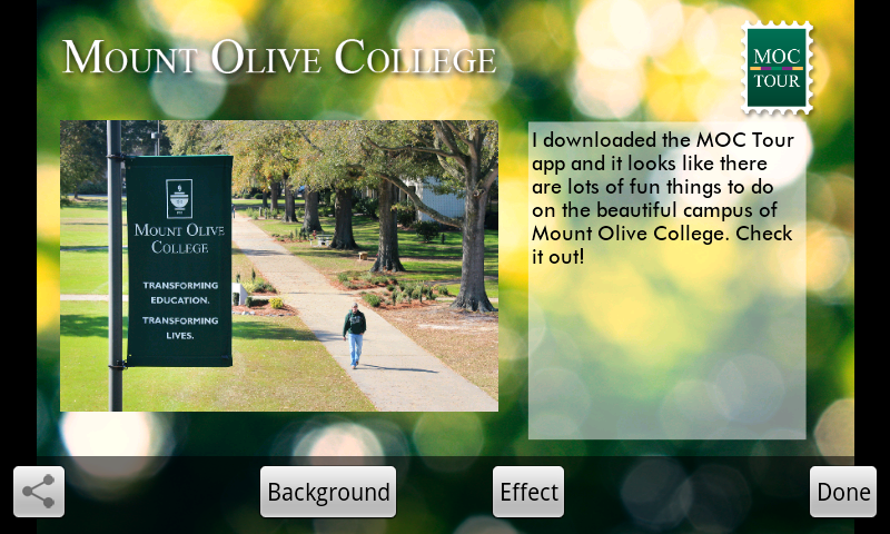 Mount Olive College Tour - screenshot
