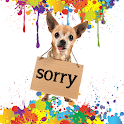 Sorry! Funny apology ecard icon