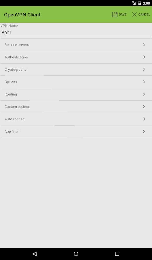 OpenVPN Client Free - screenshot