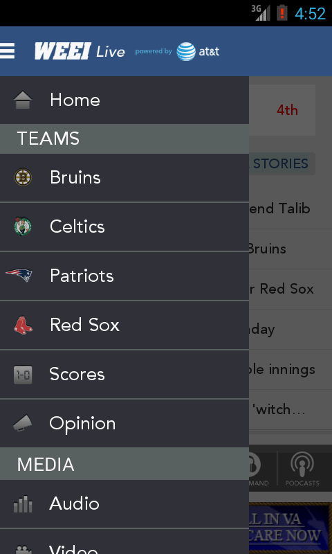 WEEI Live - screenshot