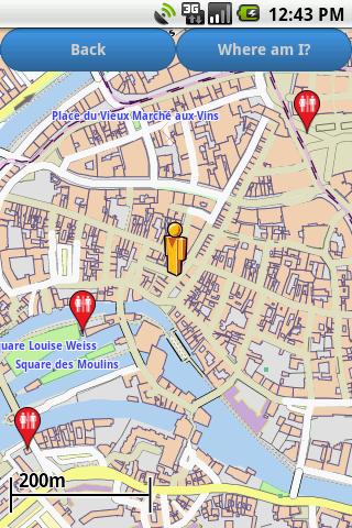 Strasbourg Amenities Map