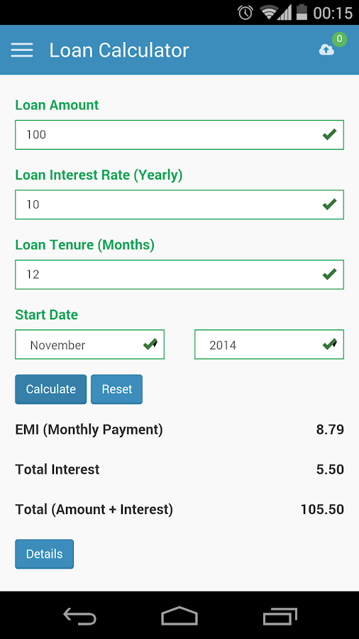 Car loan calculator app for android 15