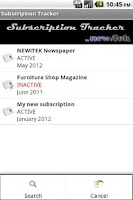 Screenshot of Subscription Tracker