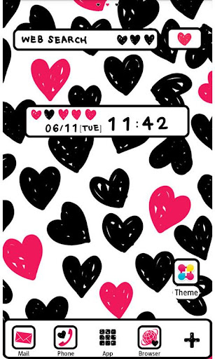 Cute Wallpaper Graffiti Hearts 1.4 Windows u7528 1