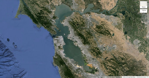 Bahía de San Francisco en Google Earth