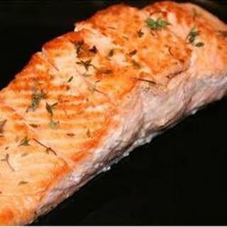 Thyme Salmon with Sage Pasta.