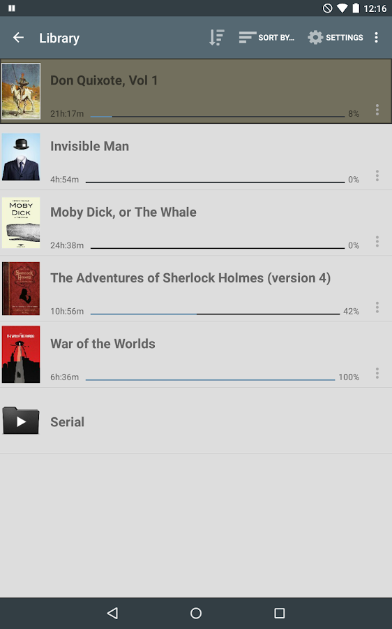 Listen Audiobook Player- screenshot