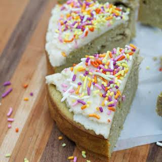 Sugar-free Grain-free Vanilla Cake.