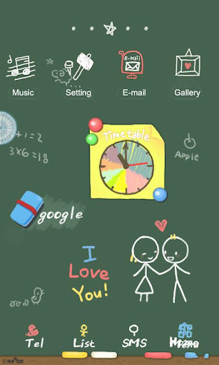 CUKI Themes BlackBoard in Love