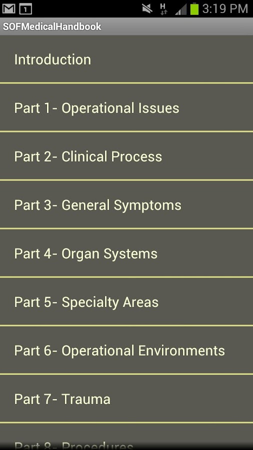 SOF Medical Handbook - screenshot