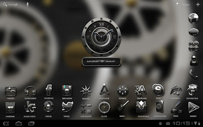 Luxus Ebony HQ Clock Widget APK screenshot thumbnail 8